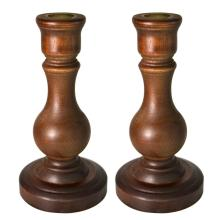 Rustic Vintage Wooden Taper Candle Holders