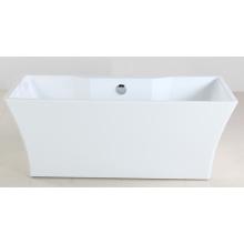 1600mm Freistehende Badewanne mit weißem Acryl