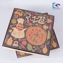 Free folding pizza paper corrugated paper box