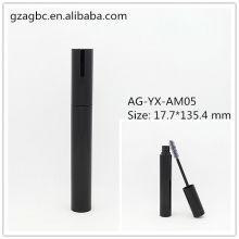 Elegante y vacía aluminio redondo tubo de rimel AG-YX-AM05, empaquetado cosmético de AGPM, colores/insignia de encargo