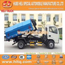 DONGFENG marca push-pull braço caminhão de lixo 4x2 5m3 novo modelo bom preço de desconto de qualidade