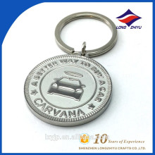 Kundenspezifische Großhandelsrunde Metallmünze Keychain