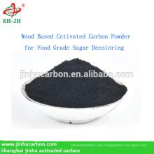 Polvo de carbón activado a base de madera para descalcificación de azúcar de grado alimenticio