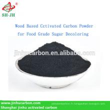 Poudre de charbon actif à base de bois pour la décoloration de sucre de catégorie comestible