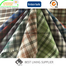100% Polyester Check Futter Stoff für Jacke