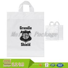Benutzerdefinierte gedruckt tragen Verpackung Heißsiegel hdpe weiche Schleife Griffe kleine klare Plastiktüten zum Verkauf