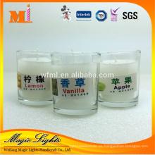 Vidrios personalizados de la vela de la protección del medio ambiente del producto profesional de China