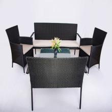 Rotan Bank instellen 4 stuk Patio meubilair stoelen Sofa tabel