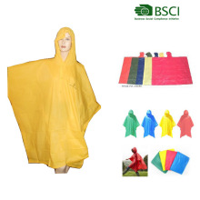 promotional pvc rain poncho with logo