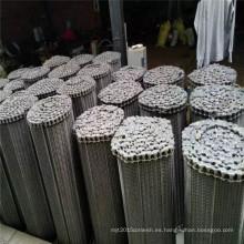 Correa transportadora de malla de alambre equilibrada de acero inoxidable de grado alimenticio