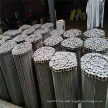 Food grade stainless steel balanced wire mesh conveyor belt