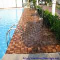 Pool wood floor tiles Nice design