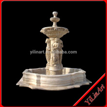 Yellow Big Marble Stone Outdoor Water Fountains Sale