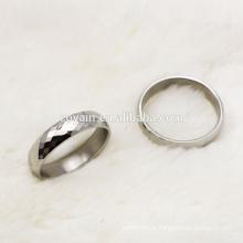 Fashion 316L en acier inoxydable bandes de mariage bague de couples