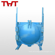 Ductile iron wall-mounted type round penstock for culvert
