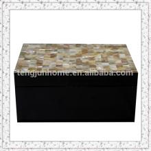 Triangular mexilhão shell caixa de armazenamento com tinta preta tamanho grande