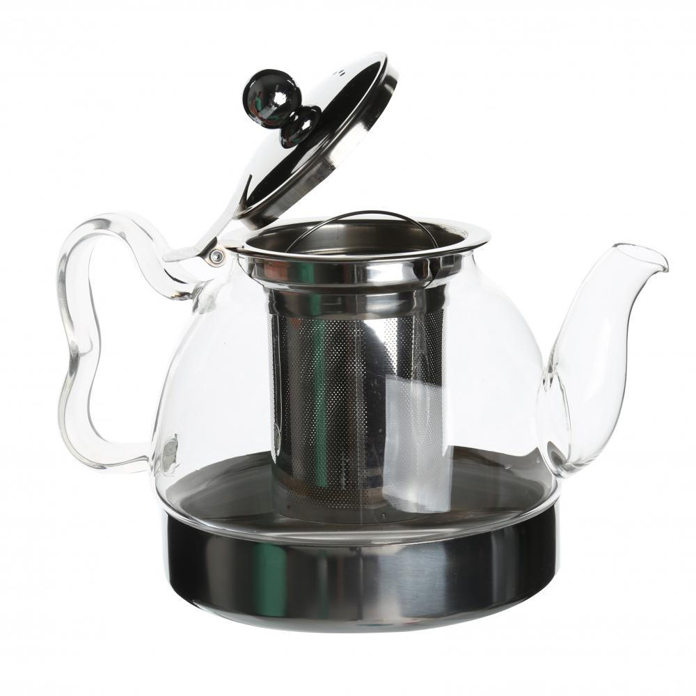 Eco-friendly Glass Teapot With Stainless Steel Infuser
