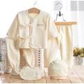 Farbige Baumwollstreifen Neugeborene Baby-Kleidung 5PCS