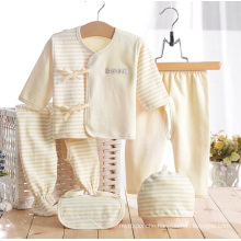 Colored Cotton Stripes Newborn Baby Clothes 5PCS