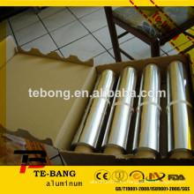 Rollo embalaje de alimentos papel de aluminio hoja de aluminio de aluminio hoja de aluminio embalaje papel de aluminio precio de impresión de aluminio