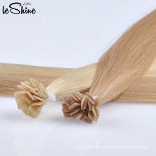 Extension de cheveux soyeuse blonde droite