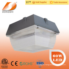 ETL 60W gas station led canopy lights with 5 years warranty
