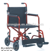 Manual steel main frame nursing wheel chair with washable polyester seat&back upholstery for elderly/disabled RJ-W976(AB)
