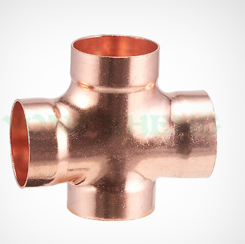 Copper DWV Double Sanitary Tee