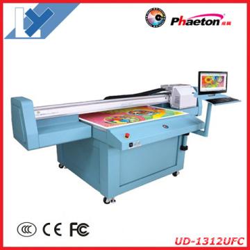 Universal Digital UV Flatbed Printer com Epson Dx5 Inkjet Printhead (1.3m * 1.2m ou 2.5m * 1.2m para Decoração,