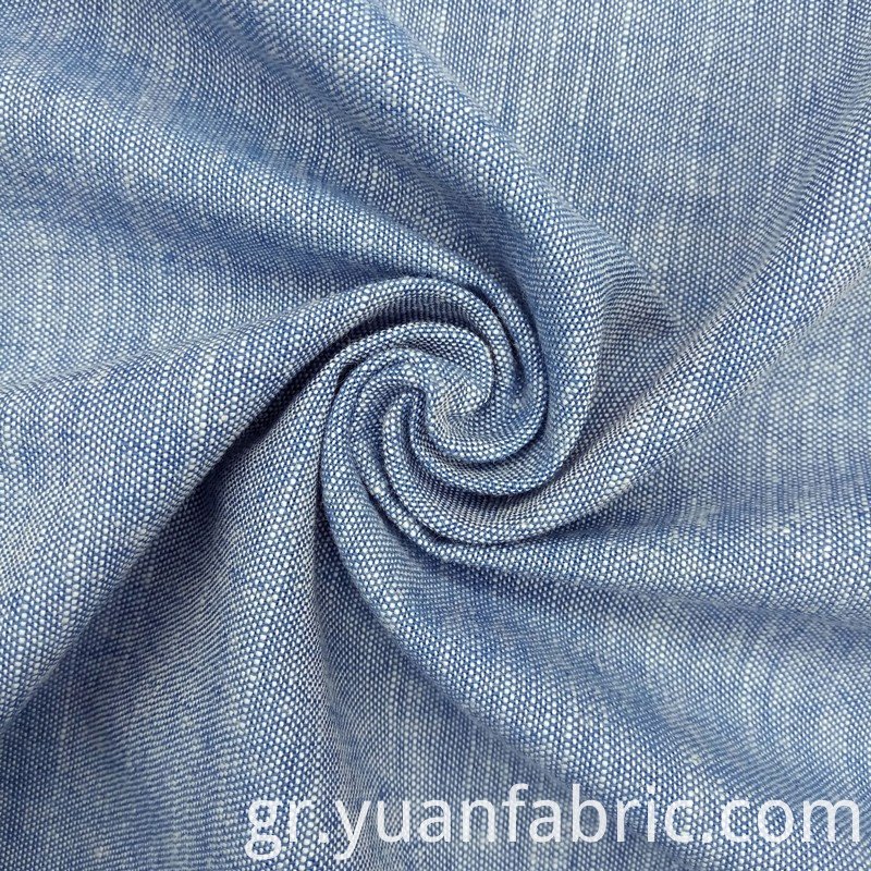 182yarn Dyed Woven Indigo Slub Dress Shirt Fabric