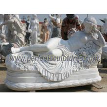 Резьба каменная статуя для сада мраморная скульптура (SY-X1228)