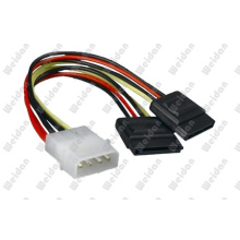 "5.25""ATX 4p to 2X Serial Splitter SATA Power Cable"