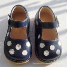 Marinha com bolinhas brancas Sapatos macios macia 7 cores