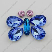 Joyería al por mayor del cristal del zafiro de la luz del fabricante al por mayor de la piedra de la ciudad de Jinhua