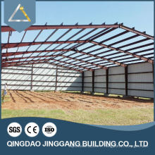 Galvanisé Prefab Metal Frame Warehouse Construction