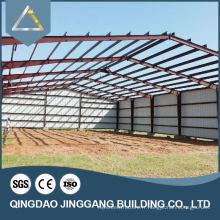 Galvanisé Prefab Metal Frame Warehouse Construction