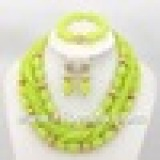 ABJ025 Apple green african jewelry sets 18k on online store- www.hibeads.com