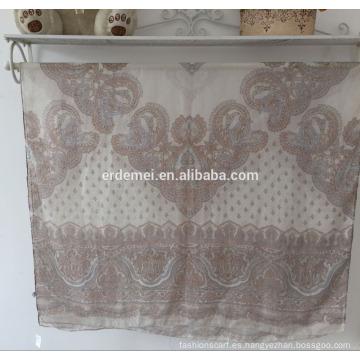 Bufanda del voile de la impresión, bufanda al por mayor de la bufanda de la manera