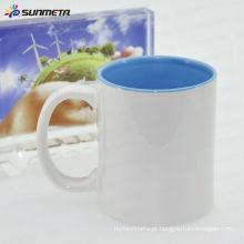 Sunmeta Sublimação 11oz Cerâmica Inner Color Ceramic Mug Feita na China