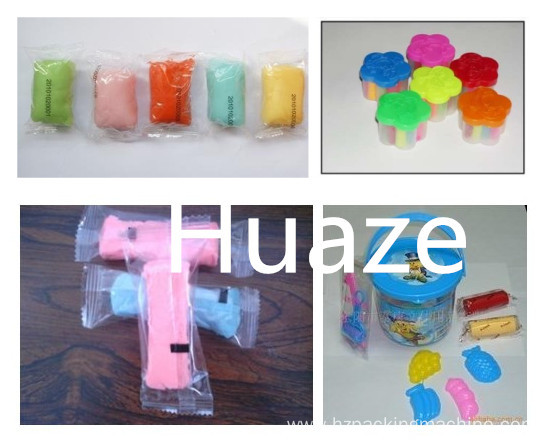 Colorful cup shape plasticine packing machine for children