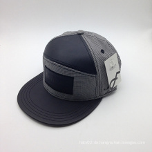 6-Panel PU Brim Baumwolle Großhandel Fashion Cap (ACEW134)