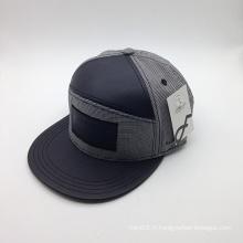 6-panneau PU Brim coton en gros mode chapeau (ACEW134)