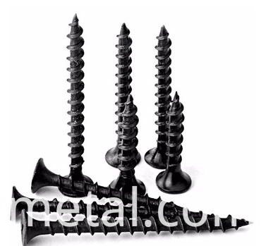 black dry wall screw