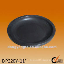 11 Inch round black matte glazed ceramic baking plates and pans
