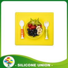 New design non-slip silicone baby dinner placemats