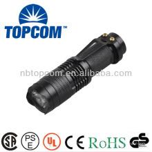 Mini-Aluminium-Cree-LED-Zoom-Taschenlampe mit Clip TP-68