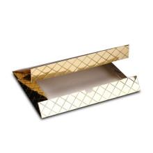Boîte de papier cadeau de luxe doré avec logo personnalisé