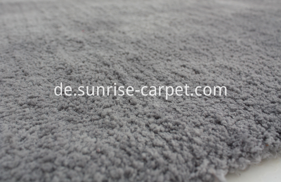 Microfiber soft shaggy with solid color grey