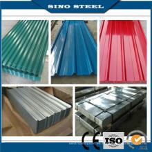 Hoja de techo de acero corrugado galvanizado prepintado Dx51d Z120 PPGI