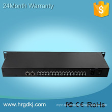 Red de televisión PCM multiplexor 16 potes FXS FXO PCM multiplexor + 1 puerto ethernet + 1 puerto video